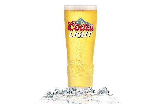 Vaso cervecero de Coors Light