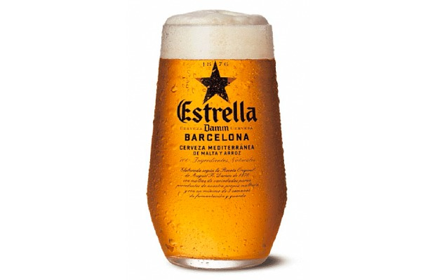 Vaso cervecero de Estrella Damm
