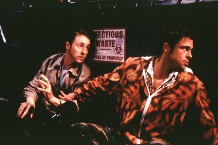 Edward Norton y Brad Pitt en Club de la Pelea