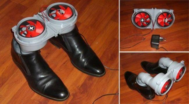 invento para secar zapatos
