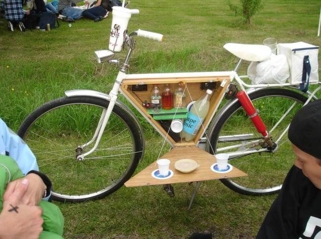 bicicleta con estatería