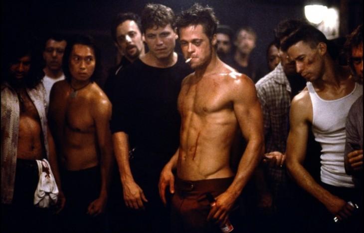 Escena Brad Pitt Club de la Pelea