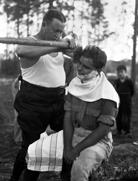 Afeitada con hacha