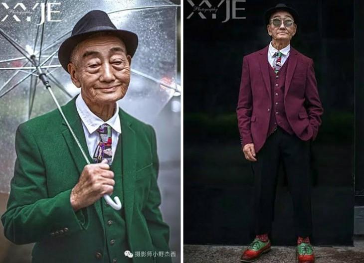 Abuelo granjero a la moda