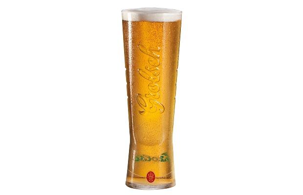 Vaso cervecero de marca Grolsch