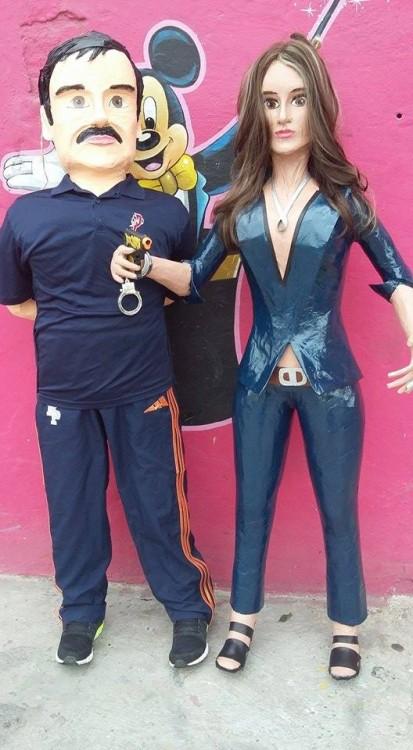 piñatas de El Chapo y Kate (7)