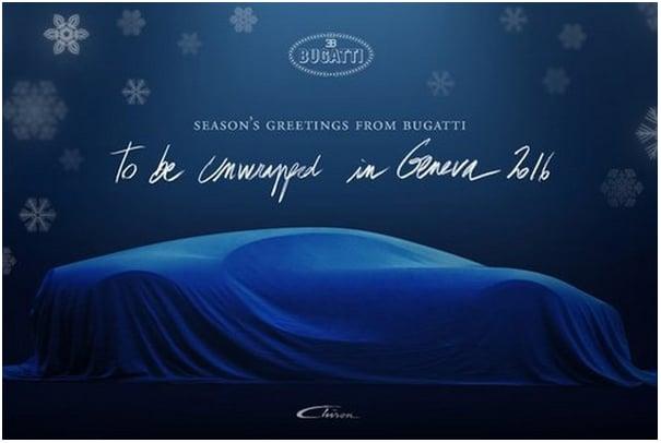 Anuncio previo al lanzamiento del nuevo Bugatti