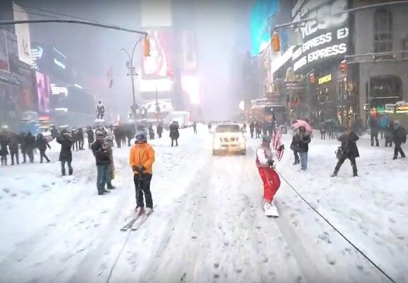 hacen snowboard en nueva york