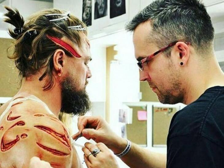 Leonardo DiCaprio maquillaje