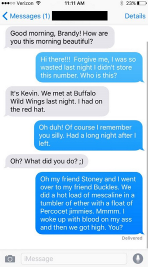 Conversación mensajes de texto