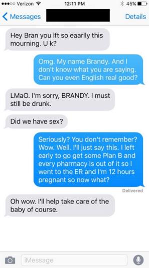Conversación mensaje texto