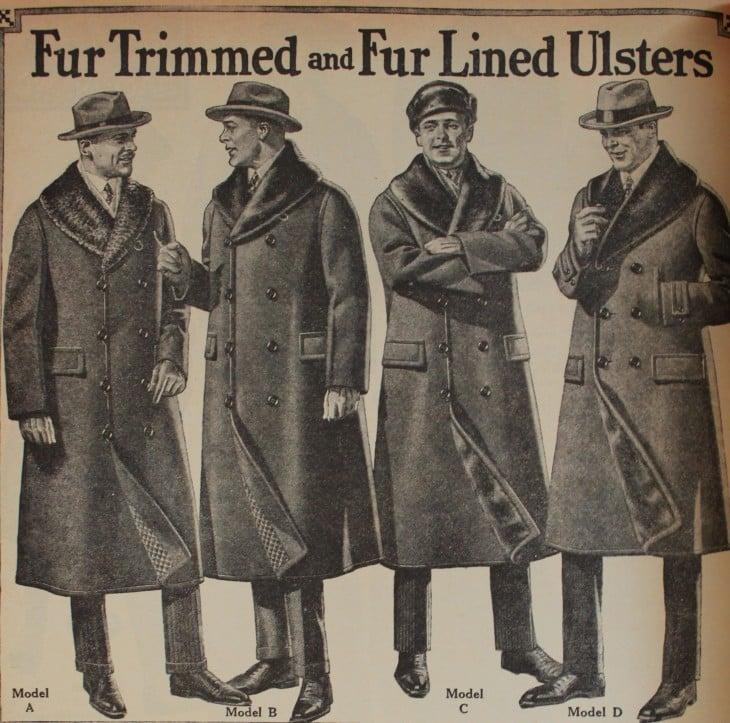 imagen vintage de abrigos de hombres
