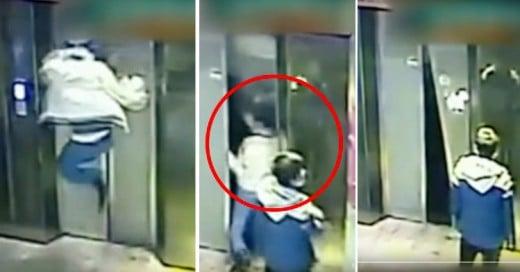 Cover-Se-pelea-con-la-puerta-de-un-elevador,-cae-4-pisos