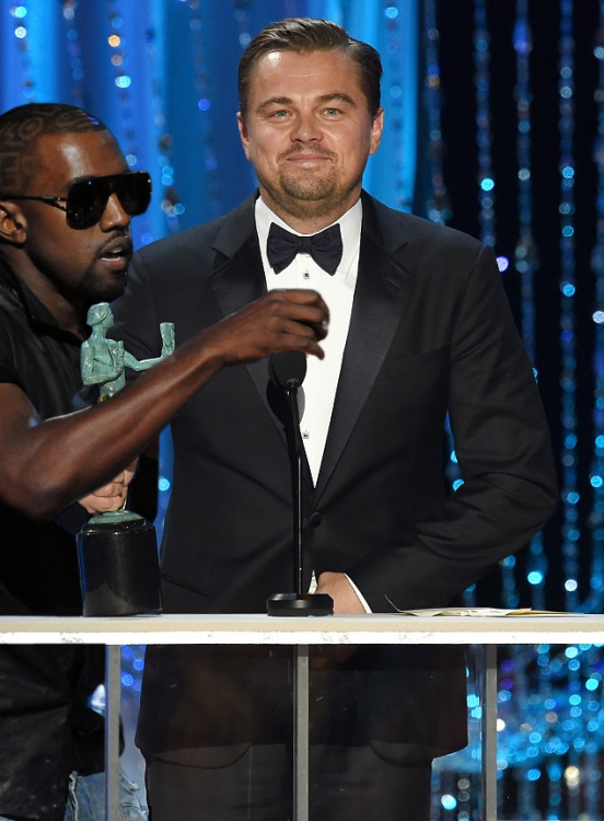 Dicaprio premio photoshop kaney west