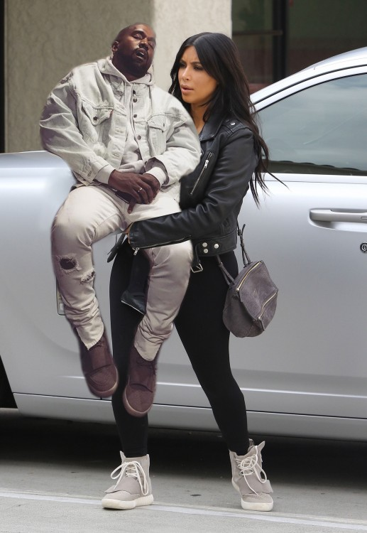 Kanye West dormido bebé photoshop kim