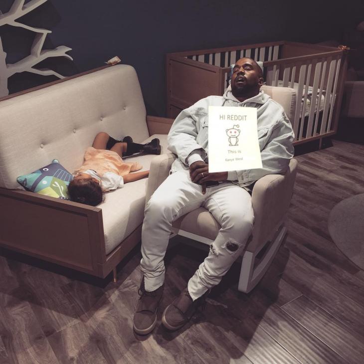 Kanye West dormido bebé photoshop reddit