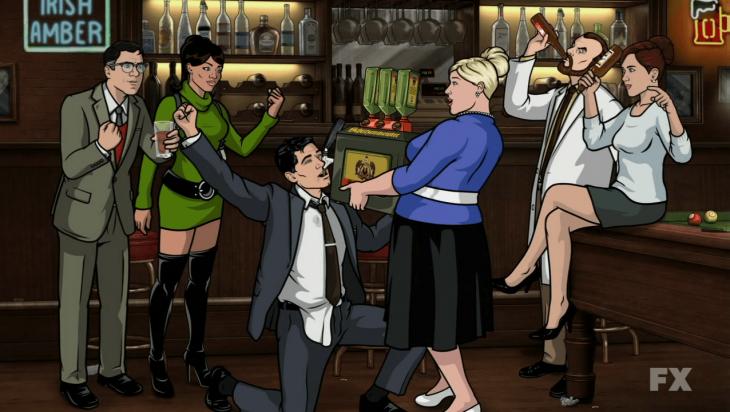 Escena de la serie animada Archer