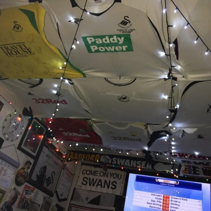 Bar casero de Stephen Harris en Swansea