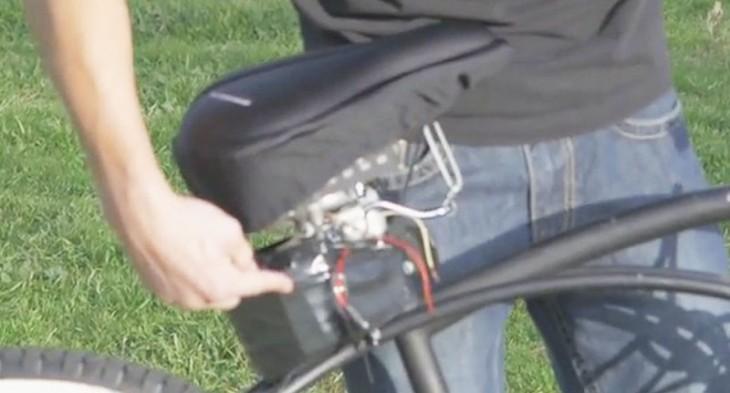 Broma con bicicleta