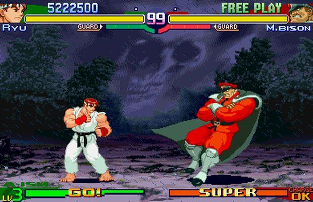 Ryu vs Bison en SF
