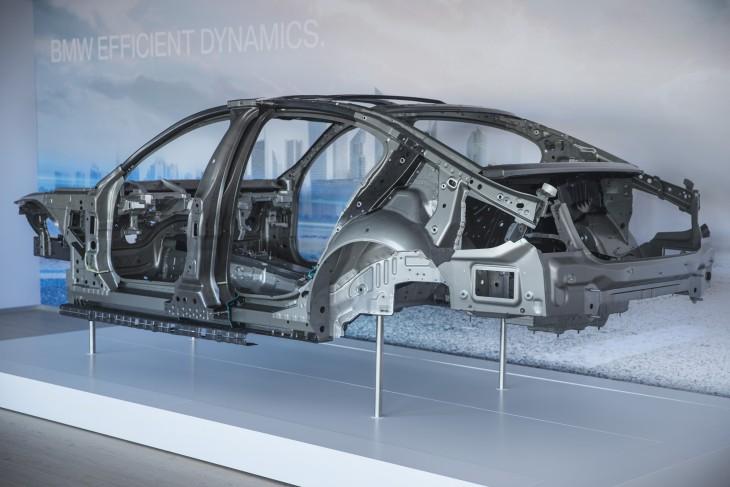 Estructura de fibra de carbono de un BMW