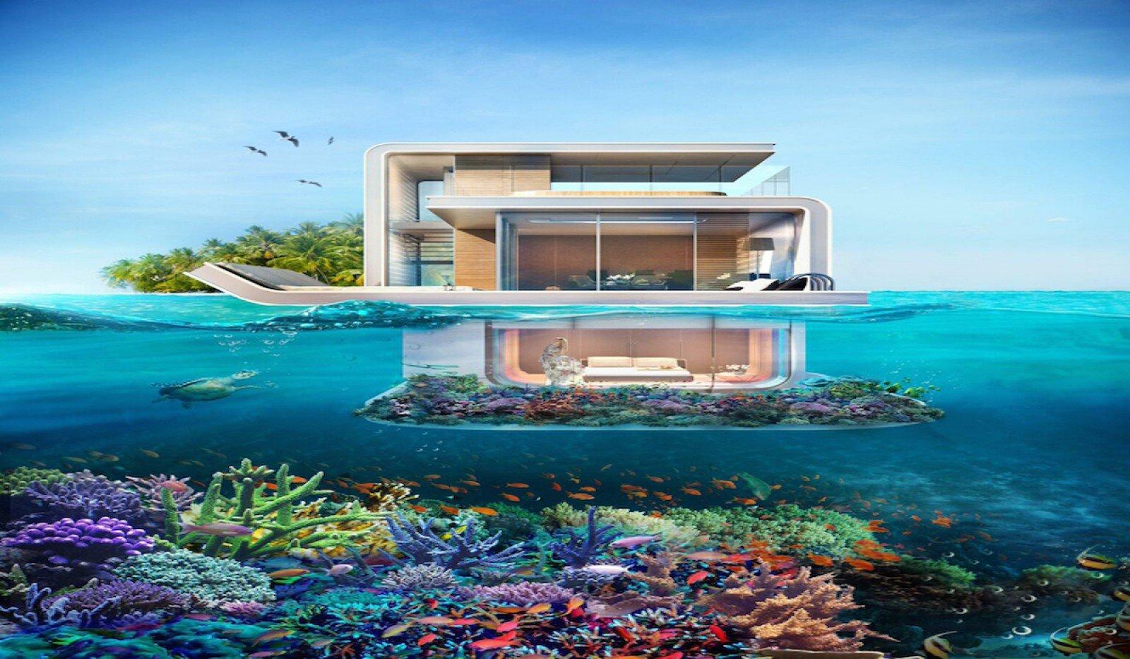 Casas de lujo a la venta en dubai est n sumergidas en el for Hotel bajo el agua precio