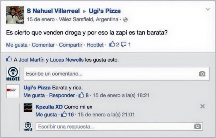 Ugi's Pizza y su peculiar estilo de atender al cliente