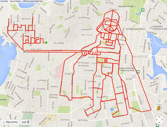 Dibujos GPS rodando en bicicleta