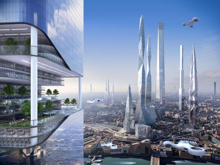 Enormes rascacielos