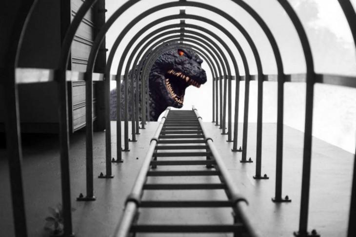 Foto premio Nikon Godzilla