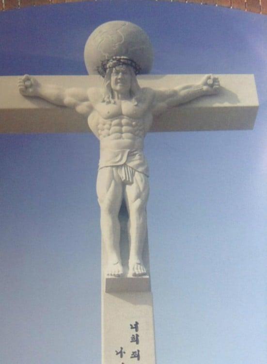 Jesús musculoso Corea