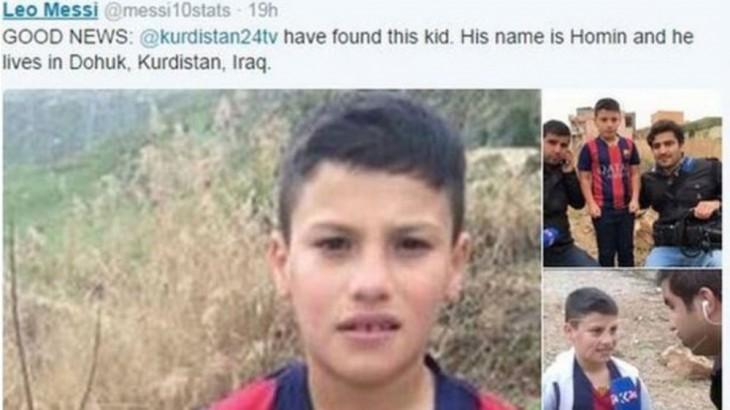 Murtaza Ahmadi confundido niño iraquí