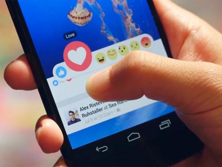 Facebook reacciones