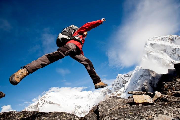 Salto en montaña