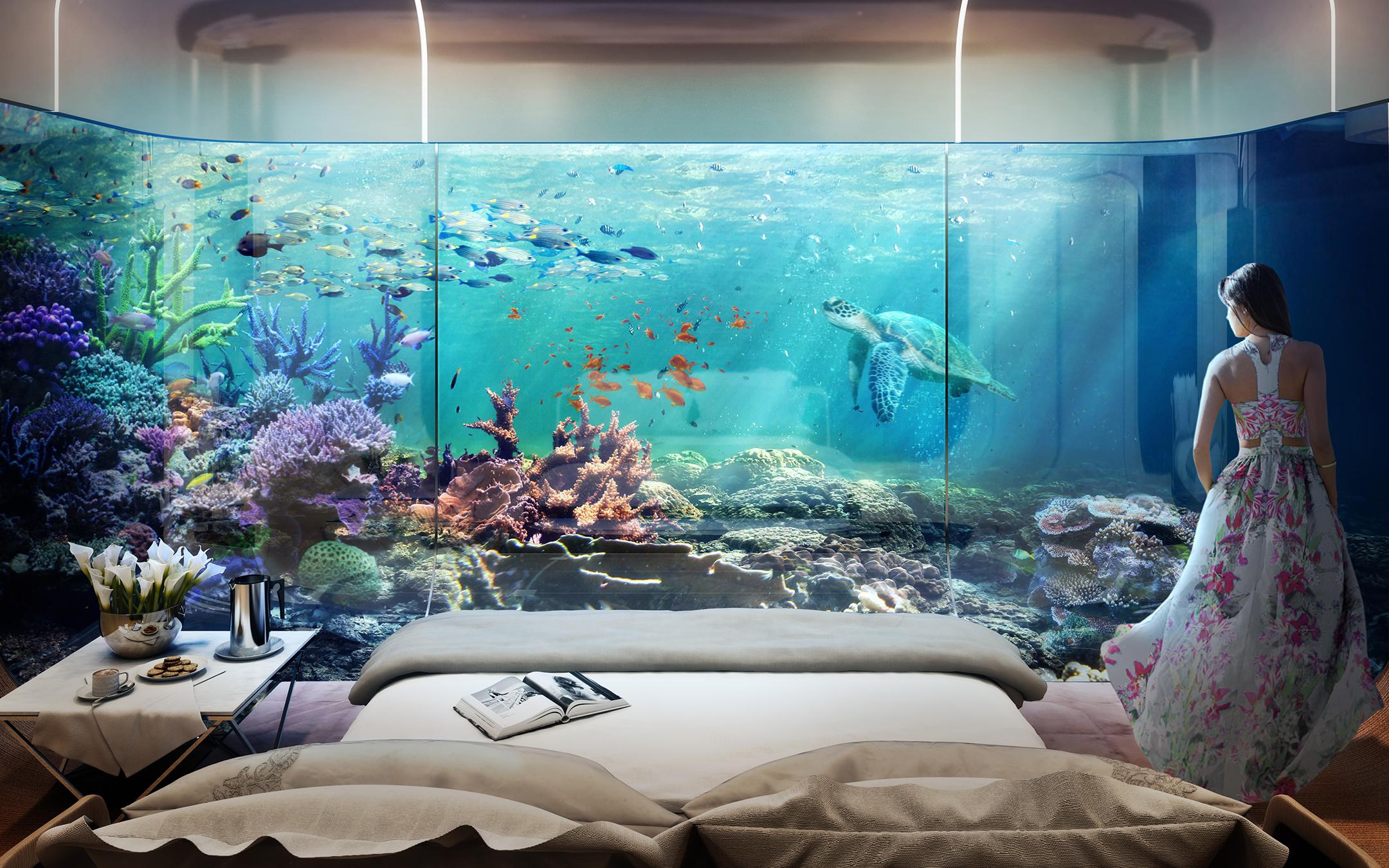 Casas de lujo a la venta en dubai est n sumergidas en el for Hotel bajo el mar dubai