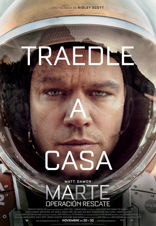 Cartel de The Martian en España