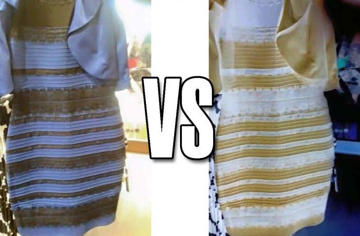 de qué color es el vestido