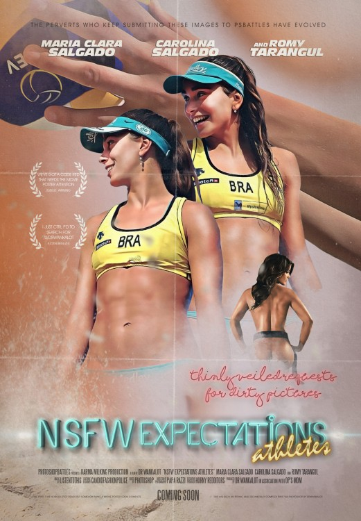 Chicas del volleyball en Batalla de Photoshop
