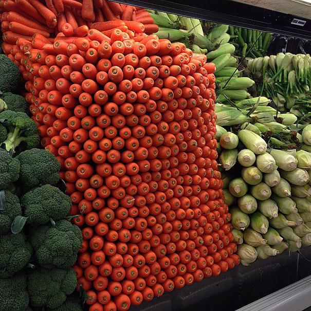 zanahorias acomodadas