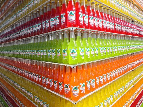 refrescos perfectamente acomodados
