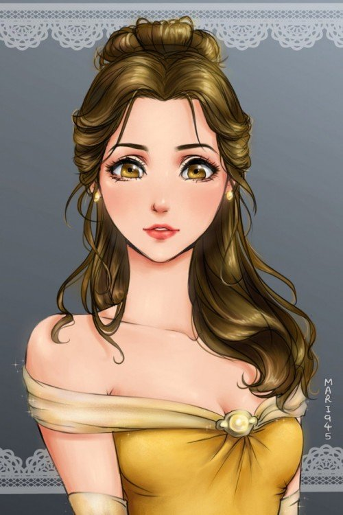 princesas disney anime, Bella