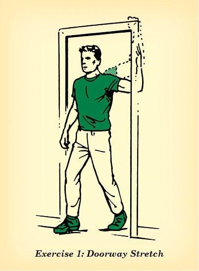 Estiramiento en el umbral de la puerta