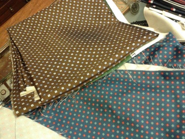Seda estampada para fabricar corbatas