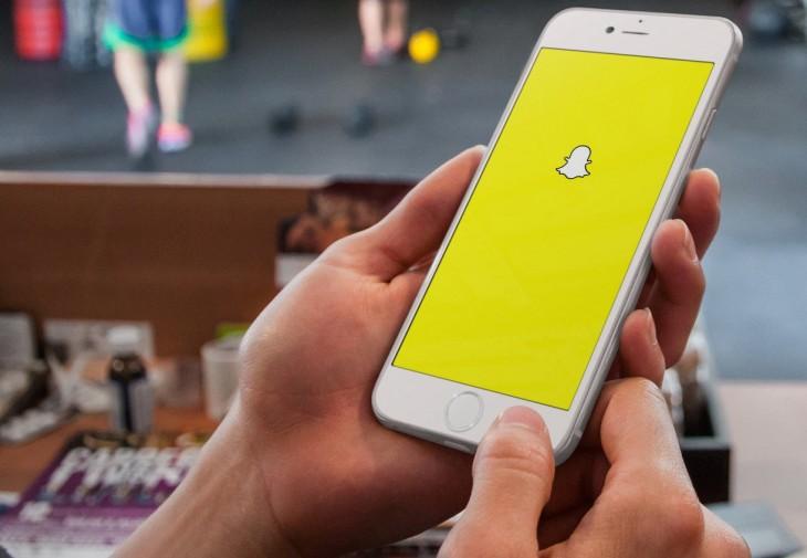 Snapchat en un teléfono celular