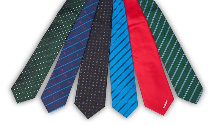 Diferentes tipos de corbata