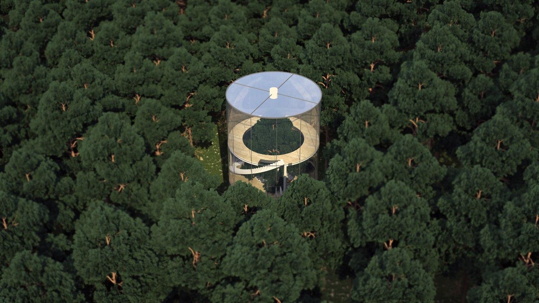 Incre ble casa tubular a mitad del bosque en kazajist n - Como construir una casa en un arbol ...