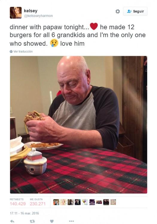 Cocinó para sus nietos y solo una llegó