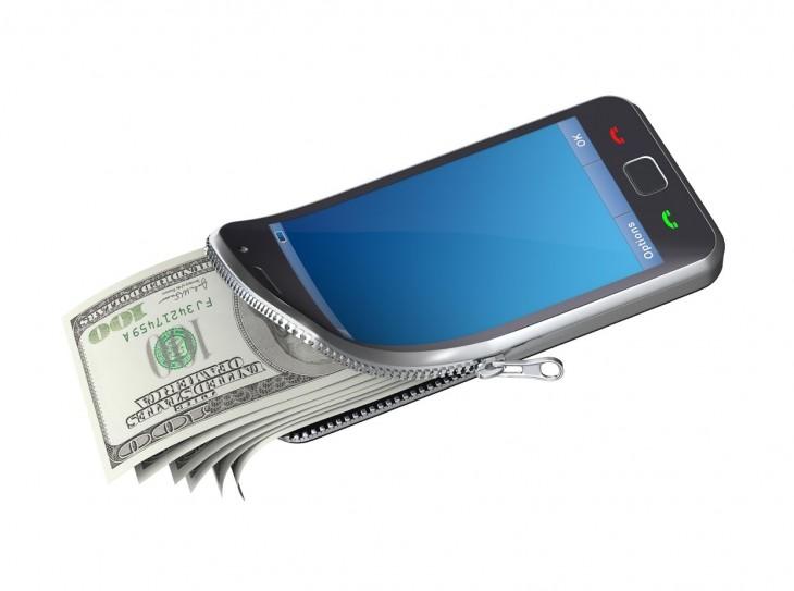 Dinero guardado en el celular