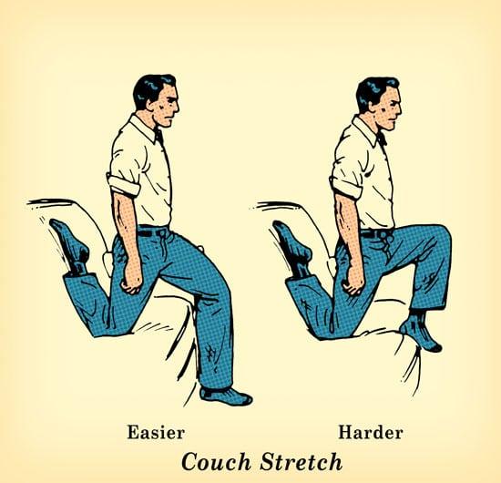 ejercicios en el sofá