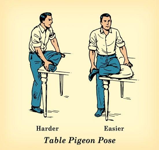 El Grok cuclillas es muy similar a la postura de un receptor en el béisbol. Basta con ponerse en cuclillas hacia abajo hasta su tope toca sus tobillos. Apoye los talones firmemente en el suelo y la espalda recta. Mantenga esa posición durante 30-60 segundos. Debe sentir que los isquiotibiales, cuádriceps, tendones de Aquiles, espalda baja, y la ingle estirando suavemente. Si eres muy rígida, puede tomar unos días de práctica para hundirse en una posición en cuclillas completa. Síguelo. La espalda y las caderas se lo agradecerán. Intercalar algunas sesiones cortas en cuclillas en su rutina diaria.